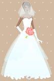 красивейшее венчание девушки платья бесплатная иллюстрация