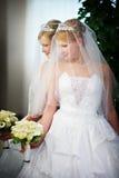красивейшее венчание платья невесты стоковая фотография rf