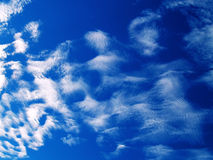 красивейшее голубое небо cloudscape Стоковые Изображения RF