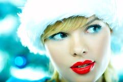 красивейшее голубое рождество Стоковые Фотографии RF