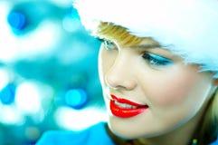 красивейшее голубое рождество Стоковые Изображения RF