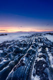 Красивейшее голубое место пляжа Стоковые Изображения