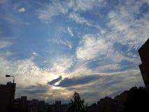 красивейшее голубое небо Стоковое Изображение RF