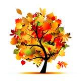 Красивейшее дерево осени для вашей конструкции иллюстрация вектора
