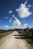 красивейшее лето дороги дня сельской местности Стоковые Изображения