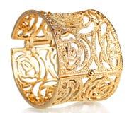 красивейшее золото браслета Стоковое Изображение RF