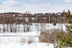 Красивейшее изображение зимы landscape Стоковые Фотографии RF