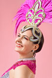 красивейшее изображение costume масленицы изолировало женщину формы нюни Стоковое фото RF