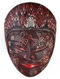 красивейшее изолированное деревянное маски богато украшенный белое Стоковая Фотография RF