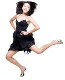 красивейшее китайское ободрение скача вверх по женщине Стоковое Изображение
