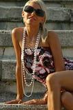 красивейшее лето девушки Стоковая Фотография RF