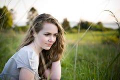 красивейшее лето девушки стоковое изображение