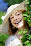 красивейшее лето парка девушки Стоковые Изображения
