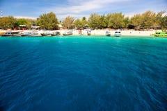 красивейшее море Индонесии gili trawangan стоковая фотография