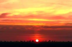 красивейшее небо вечера Стоковая Фотография RF