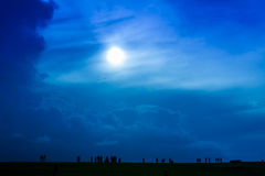 красивейшее небо вечера стоковая фотография