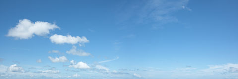 красивейшее небо панорамы Стоковая Фотография
