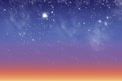 красивейшее небо рассвета Стоковое Изображение