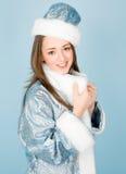 красивейшее Новый Год девушки costume Стоковая Фотография