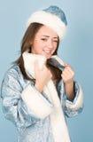 красивейшее Новый Год девушки costume Стоковое Фото