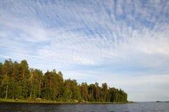 красивейшее озеро пущи северное Стоковое Изображение