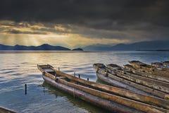красивейшее озеро шлюпки Стоковое фото RF