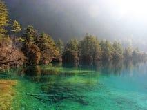 красивейшее озеро jiuzhai стоковые изображения rf