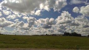 красивейшее пасмурное небо Стоковое Изображение RF