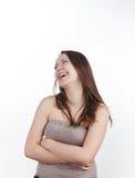 Красивейшее положение девушки стоковая фотография rf