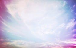 красивейшее драматическое небо Стоковые Изображения