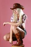 красивейшее родео портрета девушки сексуальное Стоковые Фото