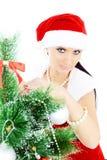 красивейшее рождество около женщины вала Стоковое фото RF