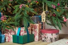 красивейшее рождество украсило вал Стоковая Фотография RF