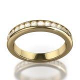 Красивейшее светя кольцо диаманта Стоковые Изображения RF