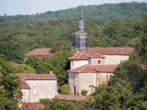 Красивейшее село в Франции Стоковые Фотографии RF