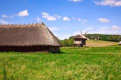 красивейшее село ландшафта Стоковая Фотография