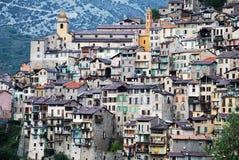 красивейшее село saorge горы Стоковое фото RF