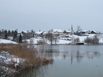 Красивейшее село Seegraeben Стоковое Изображение RF