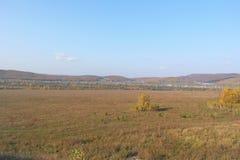 красивейшее село ландшафта Стоковое Изображение RF