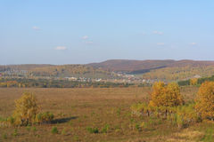 красивейшее село ландшафта Стоковые Изображения