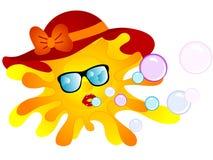 красивейшее солнце иллюстрация штока