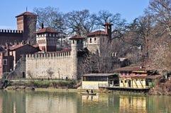красивейшее средневековое село взгляда turin Стоковое Фото