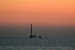 Красивейшее сумерк на море Стоковая Фотография
