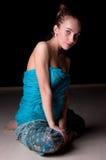 красивейшее усаживание повелительницы пола Стоковые Фото