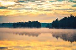 красивейшее утро ландшафта Стоковое Изображение