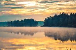 красивейшее утро ландшафта Стоковое Фото