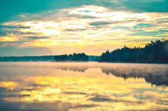 красивейшее утро ландшафта Стоковая Фотография RF