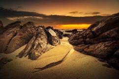 Изумительный пляж на малой воде Стоковое фото RF