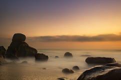 Красивейшее светлое место пляжа Стоковая Фотография