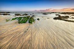 Место пляжа на малой воде, песке Стоковая Фотография RF